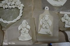 Oliwia Art Deko Salt Dough, Polymer Clay Crafts, Clay Art, Clowns, Elves, Wings, Porcelain Ceramics, Deco