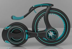 The Hybrid bike was born out of the idea to create a lightweight and eco friendly vehicle. Instead of designing a car or motorbike, this designer came up with futuristic e-bike.