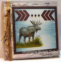 Moose in the Wild Stampin' Up! Card created by Michelle Zindorf using the Walk in the Wild stamp set.