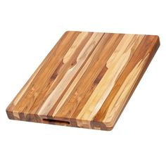 Teakhaus Teak Wood Cutting Board - More Durable than Bamboo -Rectangle Sustainable Wooden Carving Board with Hand Grip Large x 15 x Inch)