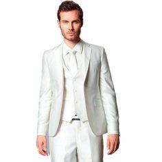 >> Click to Buy << Custom Made Groom Tuxedos Groomsmen Notch Lapel Suit Best Man Bridegroom Wedding Prom Dinner Suits (Jacket+Pants+Tie+Vest) #Affiliate