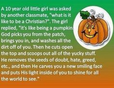 A great little story about God's love and pumpkins