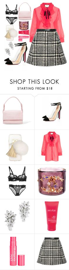 """Untitled #1066"" by meelstyle on Polyvore featuring Nancy Gonzalez, Ashlyn'd, Gucci, Chanel, Decléor and Jill Stuart"