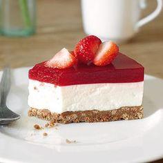 Essen und trinken erdbeer frischkase torte