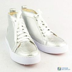 christian louboutin men shoes white leather sneakers shoes
