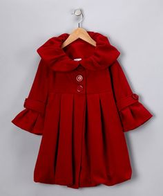 Take a look at this Red Bubble Coat - Girls by Candy Cane Lane: Girls' Apparel on #zulily today! #Fall