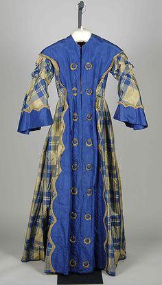 1855, America - Silk dressing Gown