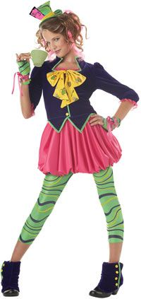 Tween and Teen Mad Hatter Costume - Alice in Wonderland Costumes. Love this one for A... if we can talk her into it!
