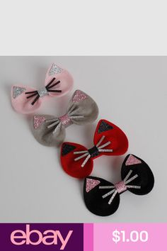 Hair Styling Accessories #eBay Clothing, Shoes & Accessories Felt Hair Bows, Kids Hair Bows, Headband Hairstyles, Diy Hairstyles, Hair Barrettes, Hair Clips, Baby Girl Accessories, Ear Hair, Bow Tutorial