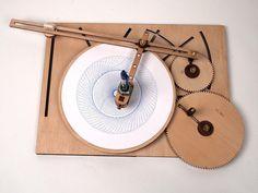 Designs géométriques infinis avec La Machine à dessiner Cycloïde (3)