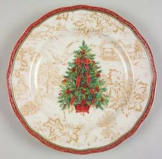 Christmas Toile china pattern by 222 Fifth