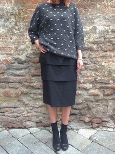Stylish mood #driesvannoten #aw13 #fw13 #fashion #designer #collection #blouse #shirt #dress #skirt #coat #pantskirts #grey #wool #beanie #stripes #womenswear #womenstyle #outfit #lookbook #ootd #stye #fashionoutfit #wishlist #dolcitrame #shop #shopping #boutique