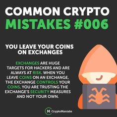 """One of the most famous mottos in the crypto industry is """"if you don't control your keys, then you don't control your coins."""" Make sure you're storing your Crypto in … Read Famous Motto, When You Leave, Yesterday And Today, Blockchain, Cryptocurrency, You Got This, Trust, Finance, About Me Blog"""