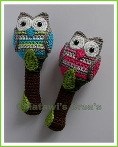 Pattern, Owl on Branch Rattle by Tamara Gaal!