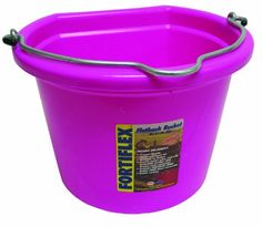 Fortiflex Flat Back Feed Bucket for DogsCats and Small Animals 8Quart Hot Pink * Find out more about the great product at the image link.
