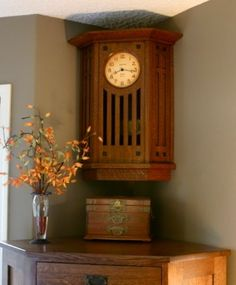1000 images about clocks on pinterest wall clocks for Arts and crafts style wall clock