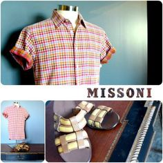Summer is here and Missoni will keep you cool in this slim fit short sleeve. Visit FLIP to start building your spring and summer collection today! Featured items: Missoni shirt (L) 108469, Bottega Veneta sandles (11) 104469 - #nashville #hip2flip #consignment #menswear #designerconsignment #missoni #bottegaveneta