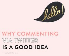 blog commenting on twitter