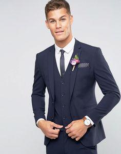 Image 1 - ASOS WEDDING Super Skinny Suit Jacket In Navy