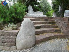 Red Granite Steps