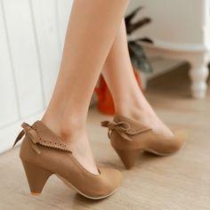 Women Pumps Pointed Toe High Heels Back Bowtie Shoes Woman 3415 Heeled Boots, Shoe Boots, Shoes Heels, Basson, Beautiful Heels, Dream Shoes, Trendy Shoes, Vintage Shoes, Women's Pumps