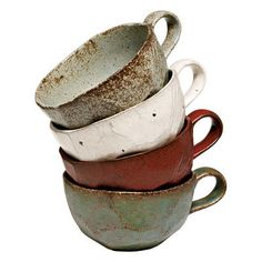 cups - I love the look of handmade things.  Their imperfection is what makes them so interesting and pretty to me.