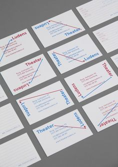 Business cards - Theater Ludens - by Studio 2 ONS