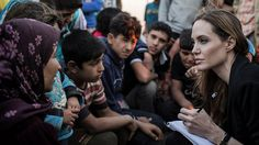 """http://resources1.news.com.au/images/2013/06/20/1226666/588461-topshots-jordan-syria-refugees-jolie.jpg  OSCAR-WINNING actress Angelina Jolie has urged the international community to boost aid to Syrian refugees hit by what she called """"the worst humanitarian crisis of the 21st century,"""" a UNHCR statement says."""