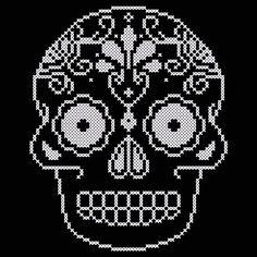 Ornate Skull Cross Stitch