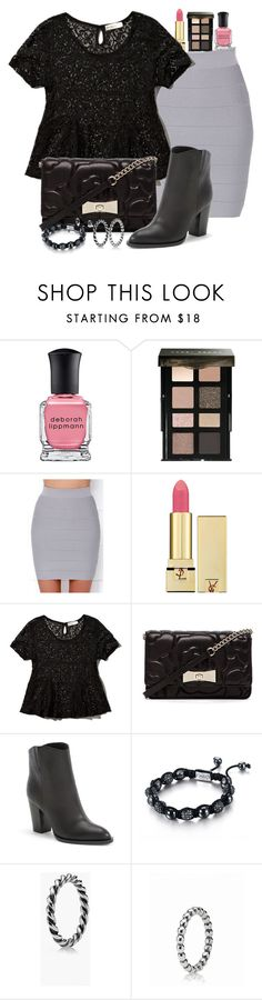 """""""Untitled #1850"""" by abigailtaylor ❤ liked on Polyvore featuring Deborah Lippmann, Bobbi Brown Cosmetics, Wow Couture, Yves Saint Laurent, Abercrombie & Fitch, Kate Spade, Vince, SHIMLA and Pandora"""