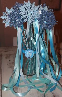 DIY Snowflake Frozen princess wand