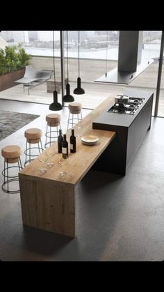 Modern Kitchen Interior The contemporary kitchen borrows high functionality and streamlined surfaces from the modernist design movement, but its style often incorporates received