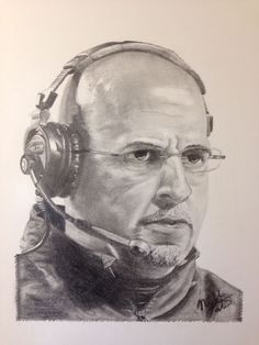 Local teen Nicholas Patrick drew this portrait of Penn State Football head coach James Franklin in preparation for the first game of the 2015 football season.