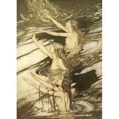 Siegfried 1924 Warning is true Canvas Art - A Rackham (18 x 24)
