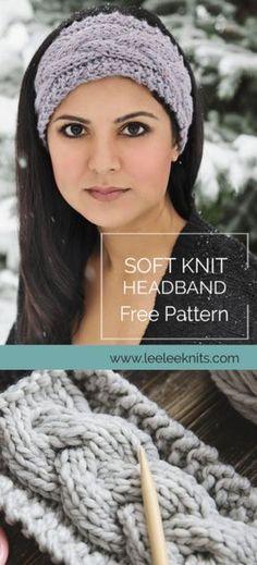 Cable Knitting Patterns, Knitting Blogs, Free Knitting, Beanie Knitting Patterns Free, Vogue Knitting, Knitting Machine, Vintage Knitting, Knitting Projects, Bandeau Torsadé