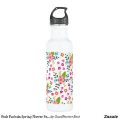 Pink and Gold Confetti Personalized Stainless Steel Water Bottle Pink Water Bottle, Custom Water Bottles, Bottle Bottle, Mint Coral, Wine Quotes, Drink More Water, Pink Polka Dots, Yellow Stripes, Stainless Steel Water Bottle