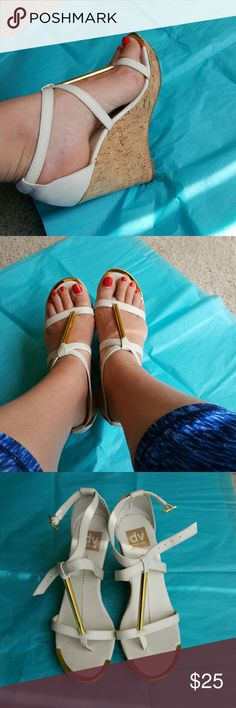 Dolce Vita wedges sandals Very clean inside. Have a few scratches on heels. You can see it on the pictures. Dolce Vita Shoes Sandals
