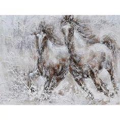 Tablou canvas 2 Horses Moose Art, Horses, Canvas, Handmade, Animals, Products, Tela, Hand Made, Animales