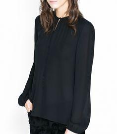 Soft blouse with the drop neck Shirt Blouses, Shirts, Drop, Long Sleeve, Sleeves, Women, Fashion, Moda, Women's