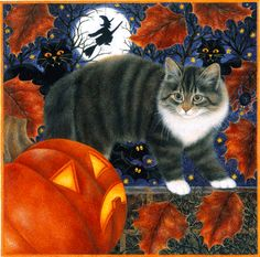 Halloween Cat by Anne Mortimer