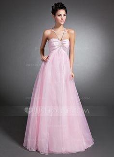 Holiday Dresses - $139.49 - Empire V-neck Floor-Length Organza Holiday Dress With Ruffle Beading (020015074) http://jjshouse.com/Empire-V-Neck-Floor-Length-Organza-Holiday-Dress-With-Ruffle-Beading-020015074-g15074