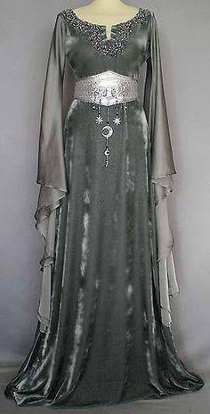 witch gypsy fortune teller vintage dress
