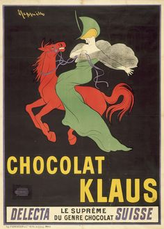 Il poster della Chocolat  Klaus (1903) determinò una nuova idea nella concezione del poster in quanto Leonetto si affidò a un singolo motivo collocato su un semplice sfondo