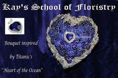 Titanic Brooch Bouquet  by KAY'S SCHOOL OF FLORISTRY- website - www.kaysschool.com  OR FOLLOW US ON FACEBOOK - Ocean Heart, Brooch Bouquets, Titanic, Crochet Earrings, Wedding Ideas, Facebook, Website, School, Inspiration