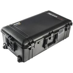 "Pelican Air Wheeled Case (model 1615; Internal Dim: 29.59""h X 15.5""w X 9.38""d; External Dim: 32.58""h X 18.4""w X 11.02""d)"