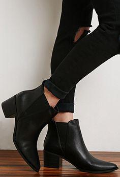 0edeba91946ba Faux Leather Chelsea Booties