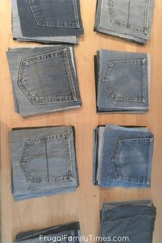 It couldn't be easier! This denim quilt is a perfect sewing project to reuse old jeans! A denim quilt is perfect for cool evenings and picnics! I love the casual cosy quality of my blue jean blanket. Denim Quilt Patterns, Quilt Patterns Free, Denim Quilts, Bag Patterns, Jean Crafts, Denim Crafts, Casual Confortable, Blue Jean Quilts, Sewing Jeans