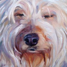 Old Friend Boomer custom Pet Portrait Oil by puciPetPortraits, $147.00