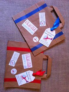 party bags FOR TRAVEL PARTY - bolsas para FIESTA DE VIAJE