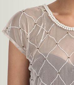 Blusa em Tule com Bordado de Canutilhos - Lojas Renner